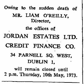 Liam O'Reilly 26th March 1913 - 8th May 1973